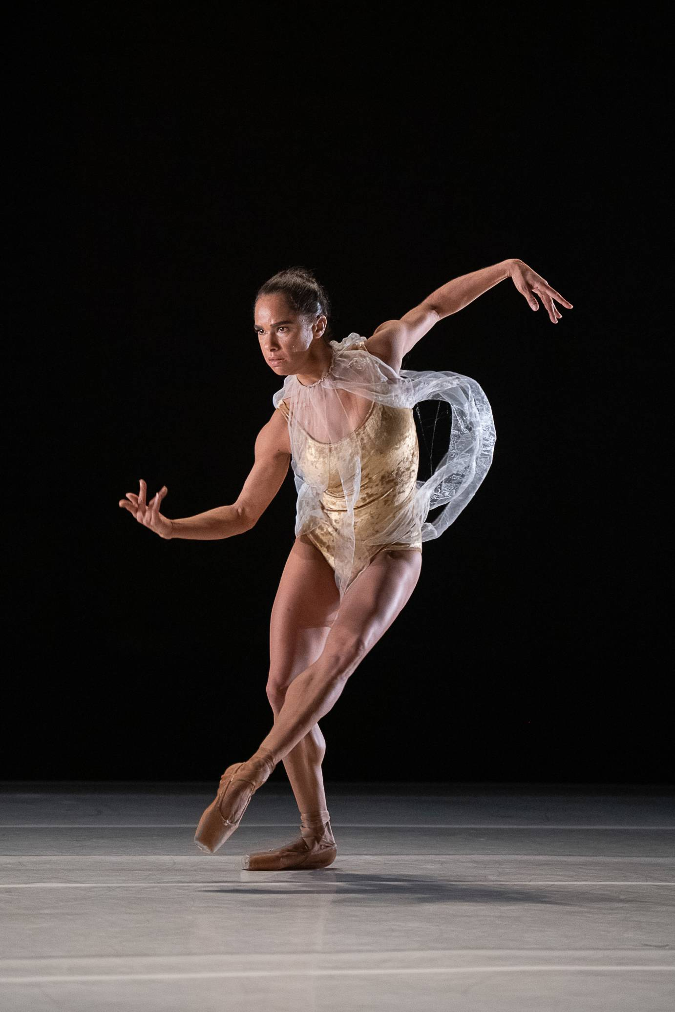 Misty Copeland poses architecturally