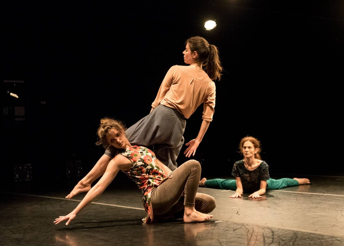 Jodi Melnick, EmmaGrace Skove-Epes and Maggie Thom in Moment Marigold.
