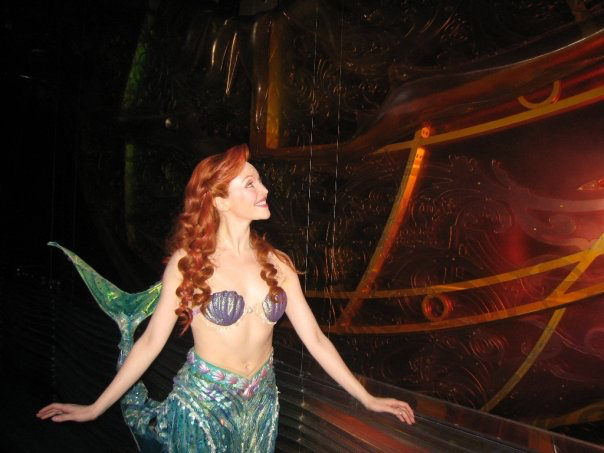 Michelle Loucadoux in her Ariel Mermaid costume complete with red hair