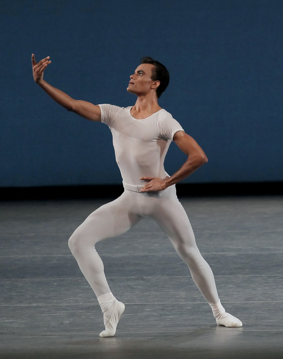 Taylor Stanley in George Balanchine's Square Dance. Photo: Paul Kolnik