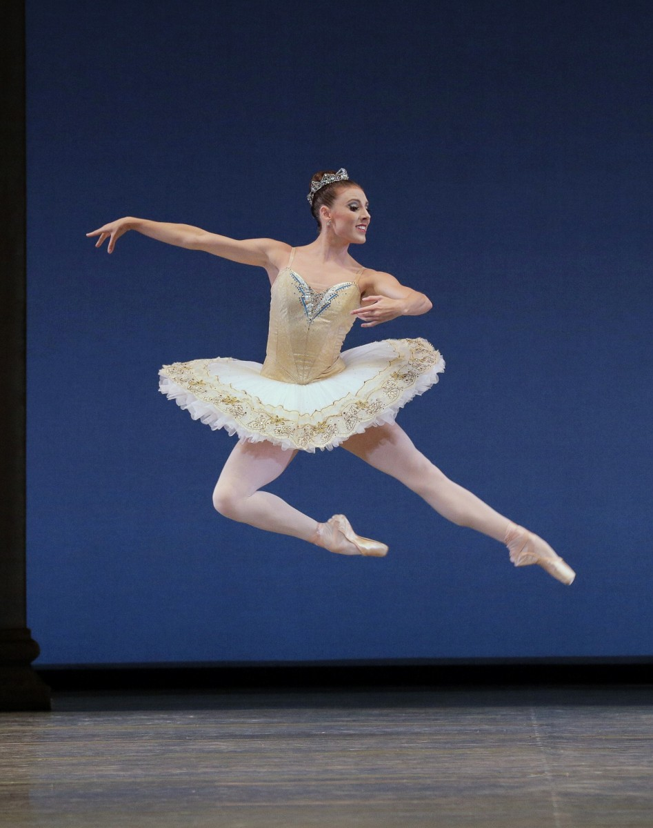 Tiler Peck in BalanchineaAAAA€AAAA™s Tschaikovsky Suite No. 3. Photo credit: Paul Kolnik