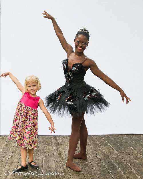 Gracie with Michaela DePrince in Christopher Duggan's Natural Light Studio at Jacob's Pillow