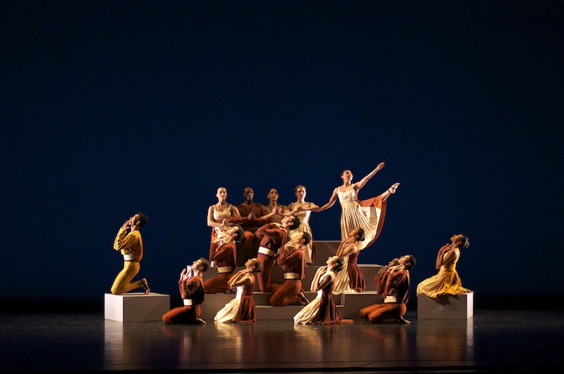 The Limon Company in a series of sculpted poses in Doris Humphrey's Passacaglia