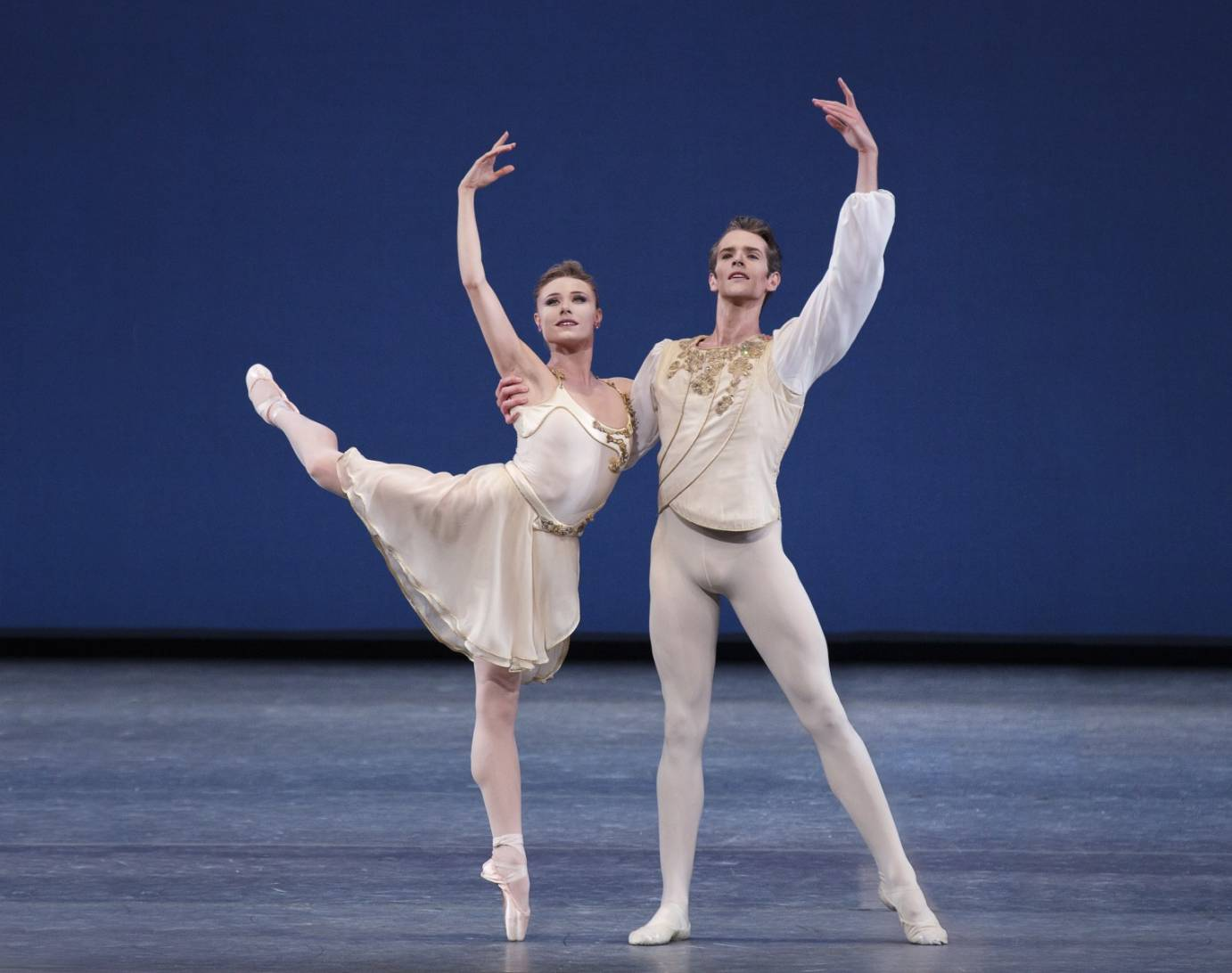 Sara Mearns and Russell Janzen in Balanchine's Chaconne. Photo: Paul Kolnik.