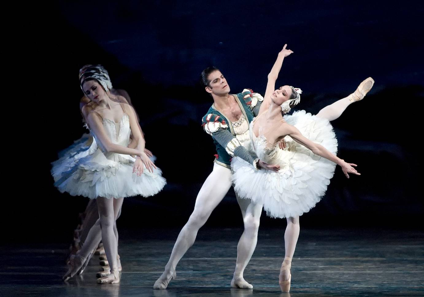 Polina Semionova and Marcelo Gomes in Swan Lake. Photo: Gene Schiavone.