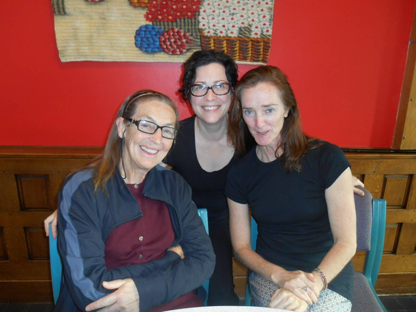 Nanette Hassall (Choreolab co-convenor), Clare Dyson and Sue Healey at the World Dance Alliance Global Summit