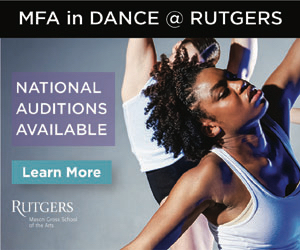 MFA in Dance at Rutgers. National Auditions Available